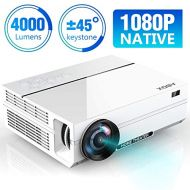 ABOX 4000 Lumens Projector Native 1080p (1920 x 1080) LED Video Projector Portable Full HD, Supports HDMI USB SD VGA AV for Amazon Firestick, Laptop, Smartphone Perfect for Footbal