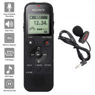 AGPTEK Sony Voice Recorder ICD-PX Series with Built-in Mic and USB, microSD Card Slot Up to 32 GB to Expand Memory, Adjustable Microphone Range, Includes A NeeGo Lavalier Lapel Mic