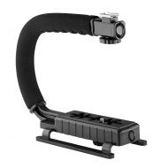 AILUN Neewer C-Shape Professional Versatile Action Stabilizing Handle Bracket with Removable Hot Shoe Mount for DV Camcorder, GoPro, iPhone, DSLR Camera, LED Light, Flash and Microphone(
