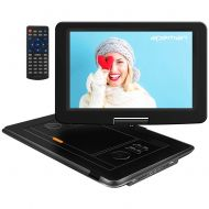 APEMAN 15 Portable DVD Player with Swivel Screen Remote Control Support SD Card USB DVD AV in/Out Earphone Speaker 6 Hours Built-in Rechargeable Battery for TV Kids Car Travel Comp