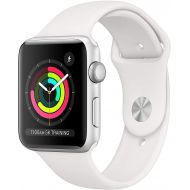 Apple Watch Series 3 42mm Smartwatch (GPS Only, Silver Aluminum Case, White Sport Band) MTF22LLA