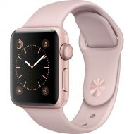 Apple Watch Series 2 Smartwatch 38mm Rose Gold Aluminum Case, Pink Sand Sport Band (Refurbished)