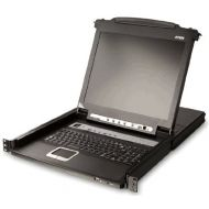 ATEN CL5708M 8-Port 17-Inch LCD Integrated USBPS2 Combo KVM with Extra Conaole Port and USB Peripheral Support (Black)