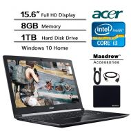 Acer Aspire 15.6 inch Full HD Flagship Laptop, 15.6 FHD (1920 X 1080) Display, Intel Core i3 2.4GHz, 8GB DDR4 RAM, 1TB HDD, Win 10 W$39.99 Valued Accessories USB Extension Cord, H
