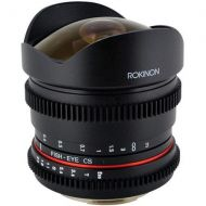 Adorama Rokinon 8mm T3.8 HD Fisheye Cine Lens for Nikon with Removeable Hood RKHD8MV-N