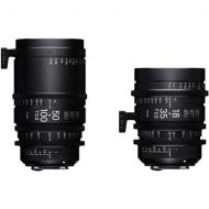 Adorama Sigma 18-35mm T2 & 50-100mm Cine High-Speed Zoom Lenses for Sony E with Case WZQ967