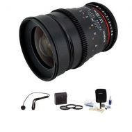 Rokinon 35mm T1.5 Cine Lens for Sony E - Bundle CV35-NEX K - Adorama