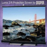 Adorama Draper Luma 2, AV Format Manual Wall or Ceiling Projection Screen, 12x12 206012