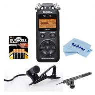 Adorama Tascam DR-05 Portable Handheld Digital Audio Recorder W/Azden SMX-10 Mic / More DR-05 J