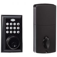 AmazonBasics Electronic Deadbolt Door Lock, Traditional, Oil Rubbed Bronze