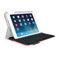 Amazon Renewed Logitech Keyboard Folio for iPad Air 1, Red Mars Orange Tech Fabric(Renewed)