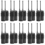 20-Pack Amcrest ATR-22 UHF Portable Radio Walkie Talkie Frequency Range 400-470 MHz FM Transceiver 16 Programmable Channels High Power Flashlight Walkie-Talkie Two-Way Radio FCC Ce