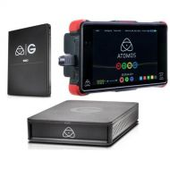 Atomos Ninja Flame 7 Monitor Recorder - Bundle with G-Technology Master Caddy 4K 1TB SSD, G-Technology ev Series Reader Caddy Edition Enclosure, 1920x1200