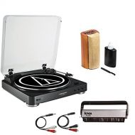 Audio-Technica AT-LP60USB Turntable wKnox Vinyl Brush Cleaner and Cleaning Kit