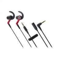 Audio-Technica Audio Technica ATH-CKP500RD SonicSport In-ear Headphones, Red