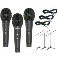 Audio-Technica},description:The M4000S 3-Pack Mic and Stand Kit comes with (3) Audio-Technica M4000S microphones, (3) 20-foot microphone cables, and (3) tripod microphone stands.Th