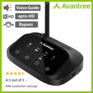 [Premium Version] Avantree Oasis Plus aptX HD Long Range Bluetooth Transmitter Receiver for TV Audio, Home Stereo, Optical Digital, AUX & RCA, Wired & Wireless Simultaneously, Dual