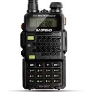 BaoFeng Two Way Radio,Baofeng Walkie Talkie UV-5R5 5W Dual-Band Two-Way Ham Radio Transceiver UHFVHF 136-174400-520MHz,65-108MHz FM with Upgraded Earpiece,Built-in VOX Function,Battery,C