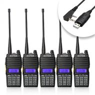 BaoFeng Baofeng 5PCS UV-5X Mate Handheld Two-way radio VHF136-174MHz UHF400-520MHz Dual Display Standby Transceiver Walkie Talkie with Tokmate Programming Cable