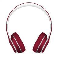 Beats Solo2 On-Ear Headphone Luxe Edition - Red (WIRED, Not Wireless) (Renewed)