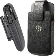 BlackBerry Rim Blackberry Q10, Bold, Curve, Tour, Storm, Torch Leather Swivel Holster, Black HDW-50678-001