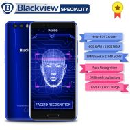 "[직배송][추가금없음]Blackview P6000 Face Recognition Smartphone 5.5""FHD Full Screen Helio P25 Octa Core 6GB+64GB 6180mAh Battery 21+0.3MP 4G Phone"
