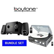 Boytone BOYTONE PREMUIM SOUND SYSTEM BUNDLE SET, Turntable Plus 2.1 multimedia Bluetooth speaker (BT-17DJB-C & BT-3129F)
