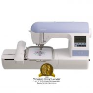 "Brother Embroidery Machine. PE770. 5"" x 7"" Embroidery Machine with Built-in Memory. USB Port. 6 Lettering Fonts. 136 Built-in Designs"