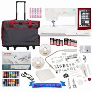 Brother Janome Memory Craft 14000 Sewing and Embroidery Machine with Exclusive Bundle