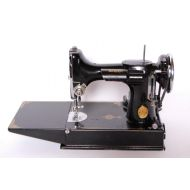 Brother Singer Featherweight 221-1 Antique Sewing Machine Scroll Face, Working c. 1940