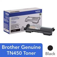 Brother Genuine High Yield Toner Cartridge, TN450, Replacement Black Toner, Page Yield Up To 2,600 Pages
