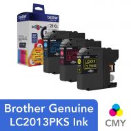 Brother Genuine Standard Yield Color Ink Cartridges, LC2013PKS, Replacement Color Ink Three Pack, Includes 1 Cartridge Each of Cyan, Magenta & Yellow, Page Yield Up To 260 Pages/ca