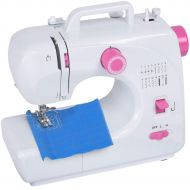 Brother Costway Sewing Machine Portable Multifunctional Sewing Machine with 16 Built-in Stitch Adjustable 2-Speed Automatic Thread Rewind Sewing Machine with Light and Bonus Accessories