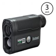 Bushnell Scout DX 1000 ARC 6x Magnification 1000 Yard Laser Rangefinder (3 Pack)