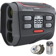 Bushnell Bundle | 2018 Hybrid Golf Laser Rangefinder GPS + 2(Two) CR2 Batteries + Custom Ball Marker Hat Clip Set (American Eagle)