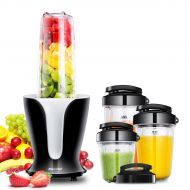 COMFEE' Mixer Grinder, Smoothie Blender, Personal Shakes Blender, 18000RPM High Speed Motor, Detachable Blade, 4 Tritan Travel Cups 32oz/24oz/18oz/12oz, 900W by Comfee