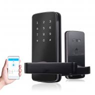 COOLOUS Smart Lock Bluetooth Keyless Touchscreen Digital Door Lock Smart Deadbolt Fully Automatic (with Handle)