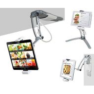 2-in-1 Kitchen Tablet Stand, CTA Digital Wall/Desktop Mount W/Stylus for 7-13 Tablets/iPad 10.2-Inch(7Th Gen)/12.9-Inch iPad Pro/11-Inch iPad Pro/Air 3/Mini 5/Galaxy Tab A 10.1/Sur