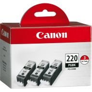 Canon, CNMPGI220BK3PK, PGI220BK3PK Ink Cartridge, 3  Pack