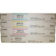 Canon GPR-55BK GPR-55C GPR-55M GPR-55Y ImageRunner C5535 C5540 C5550 C5560 Toner Cartridge Set (Black Cyan Magenta Yellow, 4-Pack) in Retail Packaging