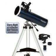 Celestron 22150 Omni XLT AZ 102mm Refractor (Blue) with NexYZ 3-Axis Universal Smartphone Adapter
