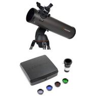 Celestron NexStar 130SLT Computerized Telescope with Mars Observing Telescope Accessory KitDeluxe kits and Eyepiece Filter