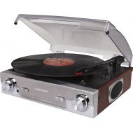 Crosley CR6005A-MA Tech Turntable with AMFM Radio and Portable Audio Ready (Mahogany)