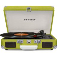 Crosley Cruiser Deluxe Vintage 3-Speed Bluetooth Suitcase Turntable, Blue