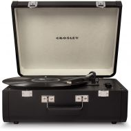 Crosley Portfolio Vintage 2-Speed Bluetooth Suitcase Turntable with Built-in Speakers, Black
