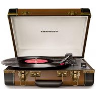 Crosley CR6019A-BR Executive Portable USB Turntable, Brown
