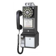 Crosley CR56-BK 1950s Payphone with Push Button Technology, Black