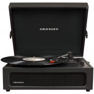 Crosley CR8017A-DU Voyager Vintage Portable Turntable with Bluetooth Receiver and Built-in Speakers, Dune