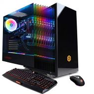 CyberpowerPC CYBERPOWERPC Gamer Supreme Liquid Cool SLC10200CPG Gaming PC (Intel i9-9900K 3.6GHz, 16GB DDR4, NVIDIA GeForce RTX 2070 8GB, 1TB SSD, WiFi & Win 10 Home) Black