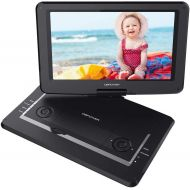 DBPOWER 17.9 Portable DVD Player with 15.6 Large Swivel Screen, Rechargeable Battery, Supports SD Card and USB, with 1.8M Car Charger and 1.8M Power Adaptor (Black)
